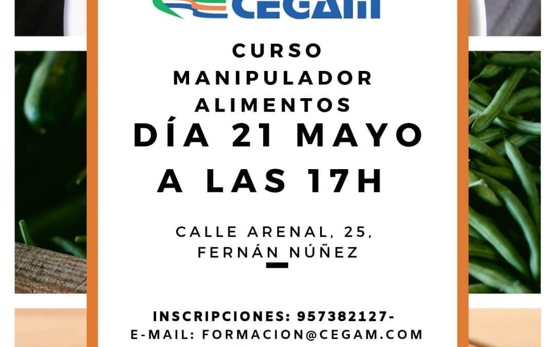 Curso de manipulador de alimentos en Fernán Núñez, Córdoba