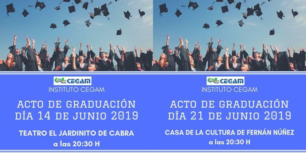 Acto de Graduaciones del Instituto CEGAM en Cabra y Fernán Núñez